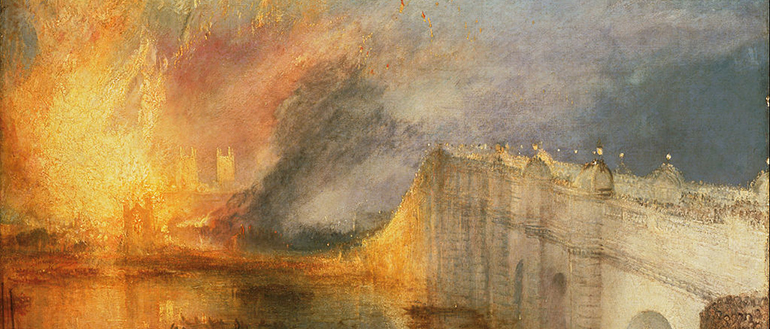 J. M. W. Turner, The Burning of the Houses of Lords and Commons, 16th October, 1834