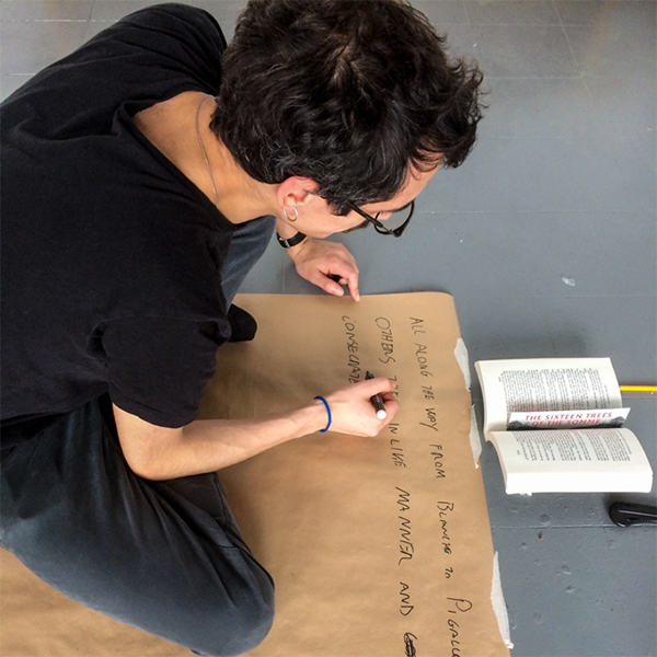 Davide Meneghello about to try Klein Blue.