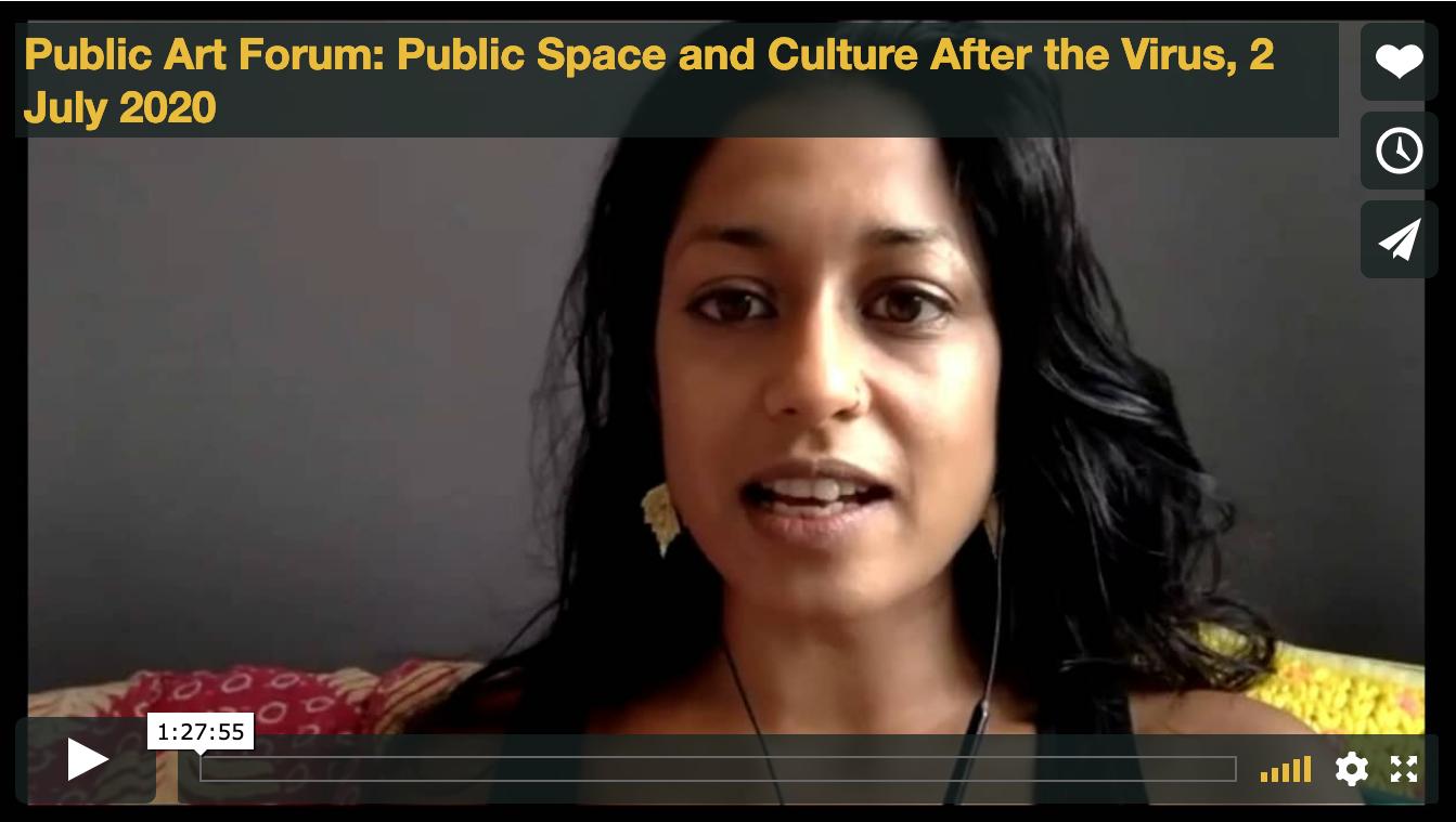 Public Art Forum: Public Space and Culture After the Virus